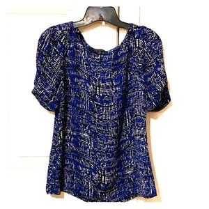 Short sleeve emmie puff blouse